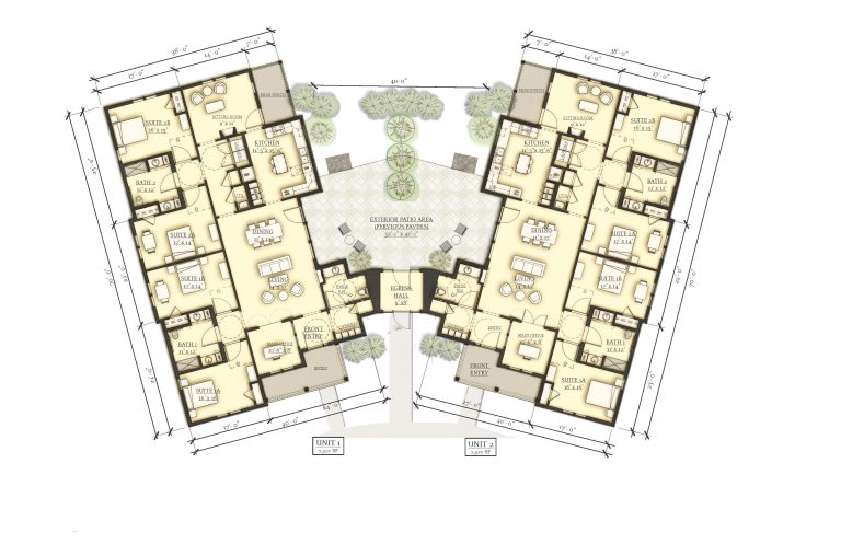 Floor plan for FORWARD at the Rock housing community for autistic adults