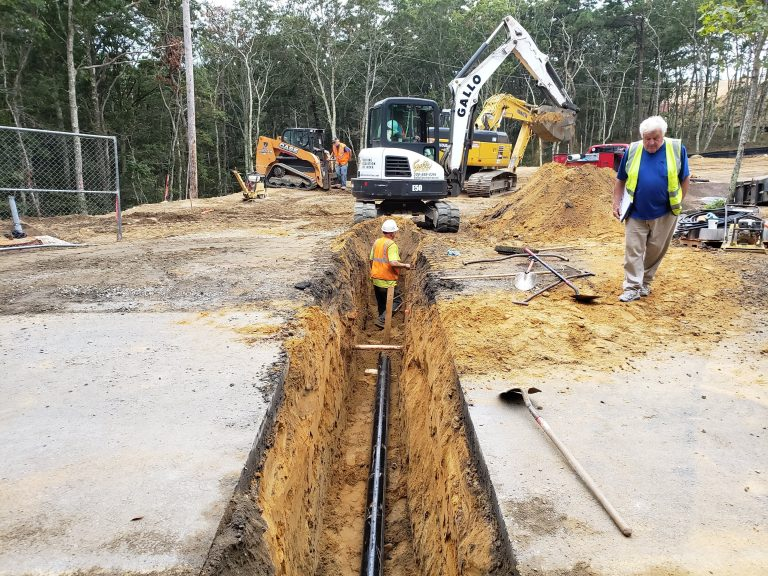 Installing the Water Line at FORWARD at the Rock