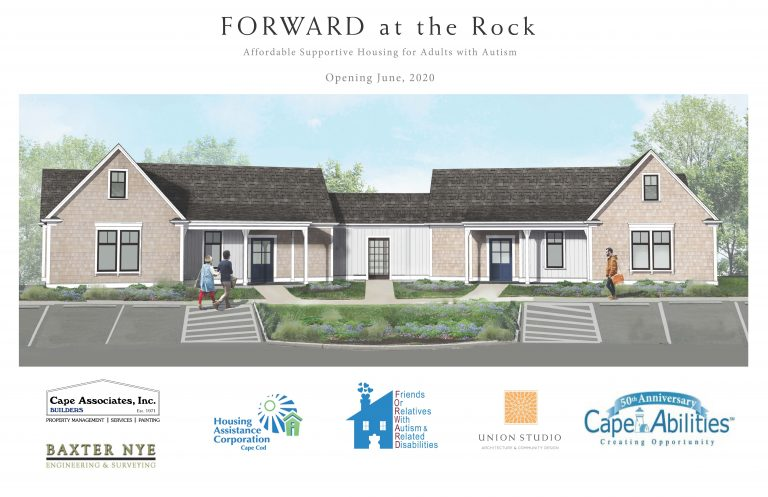 Front Elevation of FORWARD at the Rock, July, 2019