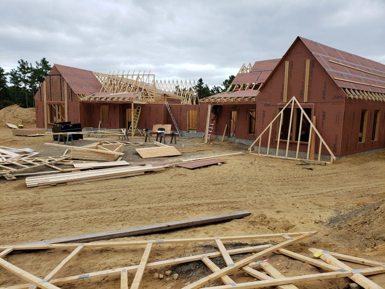 Roof Sheathing Going On at FORWARD at the Rock